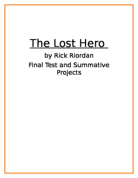 The Lost Hero by Rick Riordan Assessments