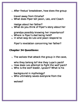 The Lost Hero by Rick Riordan: Chapters 31-40