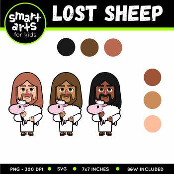 The Lost Sheep Clip Art