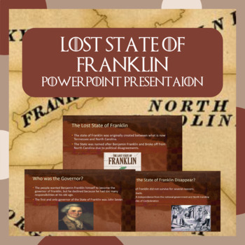 The Lost State of Franklin PowerPoint