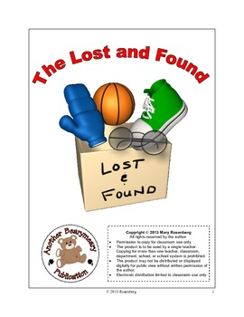 The Lost and Found Language Arts Activities and Standardized Test Practice