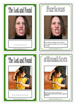 The Lost and Found Vocabulary Cards