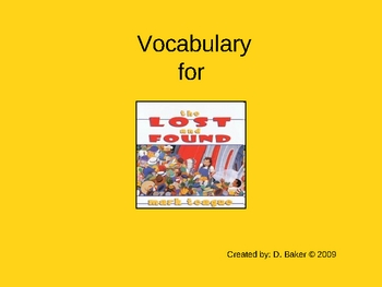 The Lost and Found Vocabulary Houghton Mifflin Series