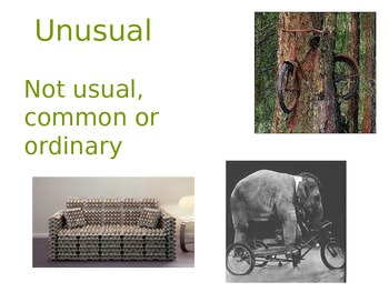 The Lost and Found Vocabulary Powerpoint