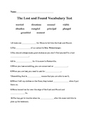 The Lost and Found Vocabulary Quiz