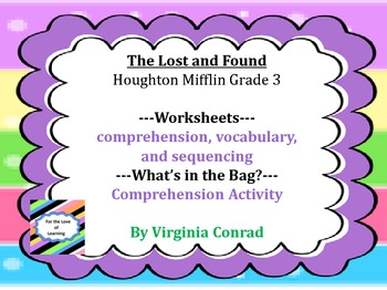 The Lost and Found--Worksheets and Activities--Houghton Mifflin Grade 3