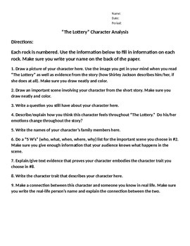 """The Lottery"" Character Analysis"