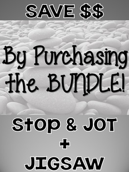 """Shirley Jackson's """"The Lottery"""" Lesson Bundle- Stop & Jot, Jigsaw {CCSS Aligned}"""