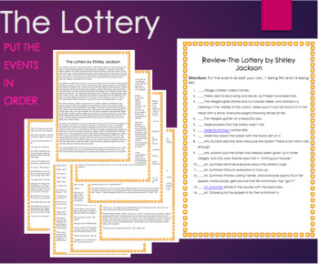 The Lottery by Shirley Jackson -Review, text, Short Story