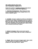 The Lottery Rose by Irene Hunt-  Ch. 8-11 Question Packet