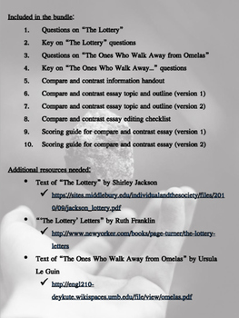 """""""The Lottery"""" and """"The...Omelas"""": Compare & Contrast Lesson Bundle"""