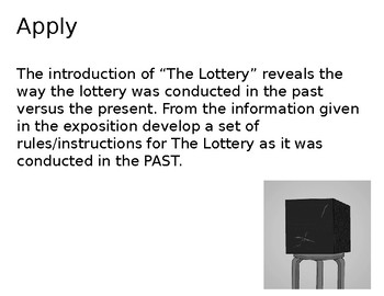 The Lottery by Shirley Jackson - 3 Day Unit Group Activities