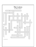The Lottery by Shirley Jackson Crossword Puzzle