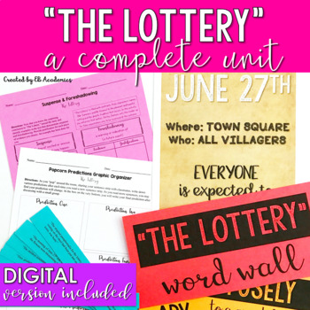 """""""The Lottery"""" by Shirley Jackson Short Story Unit"""