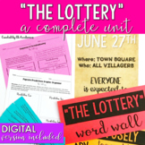 The Lottery by Shirley Jackson Short Story Unit - DIGITAL and PRINT