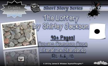 the lottery by shirley jackson short story unit study common core. Black Bedroom Furniture Sets. Home Design Ideas
