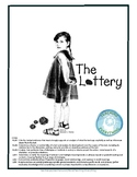 The Lottery ~Shirley Jackson UNIT Vocab, Reading Prompts, Plot, Discussion Guide