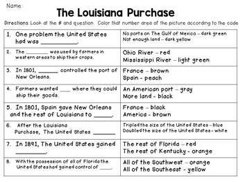 The Louisiana Purchase Color-By-Number