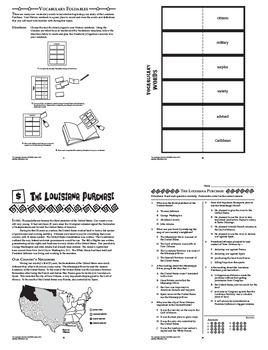 The Louisiana Purchase Interactive Notebook Unit