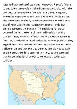 The Louisiana Purchase Handout