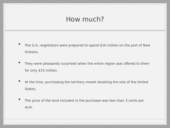 The Louisiana Purchase PowerPoint- Middle School Social Studies/History