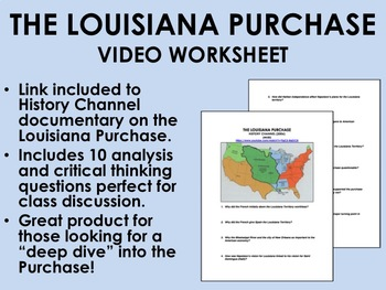 The Louisiana Purchase Video Worksheet - USH/APUSH