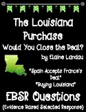 The Louisiana Purchase Would You Close the Deal? EBSR Comprehension Questions