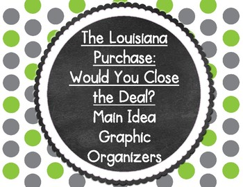 The Louisiana Purchase: Would You Close the Deal? Main Idea Graphic Organizers