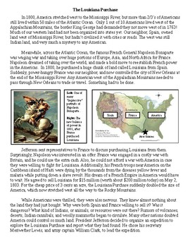 Louisiana Purchase and Lewis and Clark