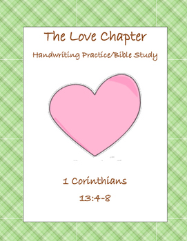 The Love Chapter - Handwriting Practice