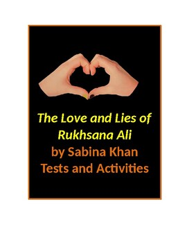 The Love and Lies of Rukhsana Ali by Sabina Khan Tests and Activities