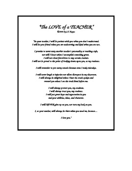 """The Love of a Teacher"""