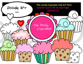 The Lovely Cupcakes Clipart Pack