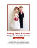 Fiber Art Craft: Bride Groom Wedding Dolls Amigurumi Croch
