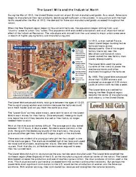The Lowell Mills and the Industrial North