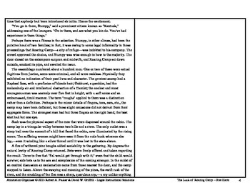 """""""THE LUCK OF ROARING CAMP"""" by BRET HARTE: Annotation Organizer"""