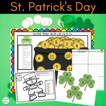 St. Patrick's Day:Math and Writing Activities Plus a Craft