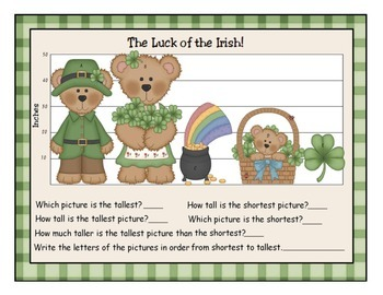The Luck of the Irish:  St. Patrick's Day Measurement Activity