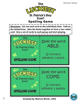 The Luckiest St. Patrick's Day Ever! A Spelling Activity for Words with -er