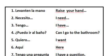 The Lucky 13 - Spanish Survivor Words & Phrases