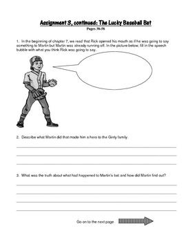 The Lucky Baseball Bat, by Matt Christopher: A Bookclub Packet