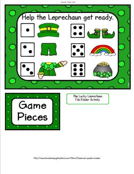 St. Patrick's Day The Lucky Leprechaun File Folder Activity