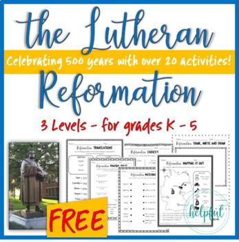 The Lutheran Reformation **SAMPLE FREEBIE**