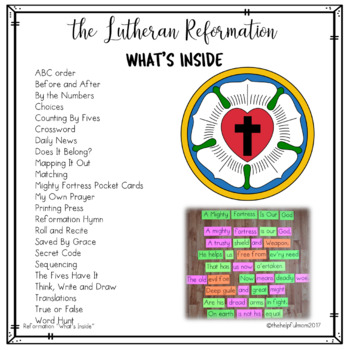 The Lutheran Reformation - Level 3 Activities *Print and Go!*