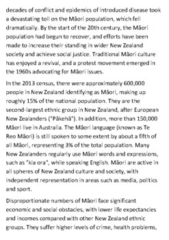 The Māori People Handout