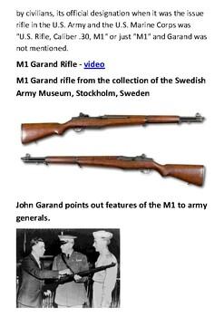 The M1 Garand Handout