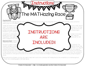 The MATHazing Race 5th Grade SET 2 Multi-Step Word Problems