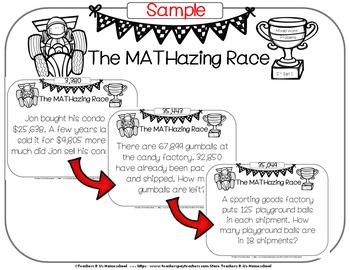 The MATHazing Race 5th Grade SET 1 Word Problems