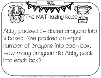 The MATHazing Race FREEBIE: Multi-Step Word Problems