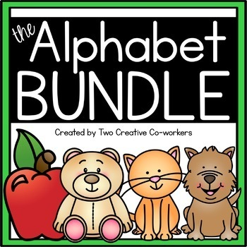 The Alphabet MEGA BUNDLE  {includes worksheets & printable mini books}